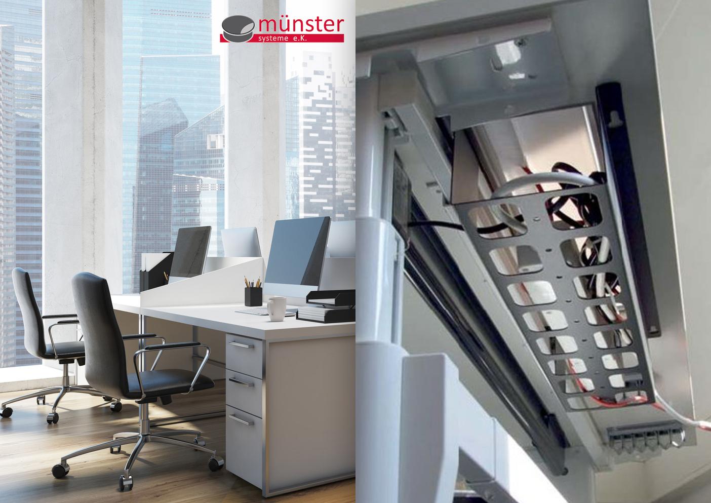 Erfreut Unter Dem Schreibtisch Drahtablage Bilder - Elektrische ...